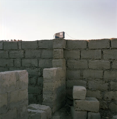 André Vieira, 'Radio at a construction site in Kuito, capital of Bié province in Angola', 2008