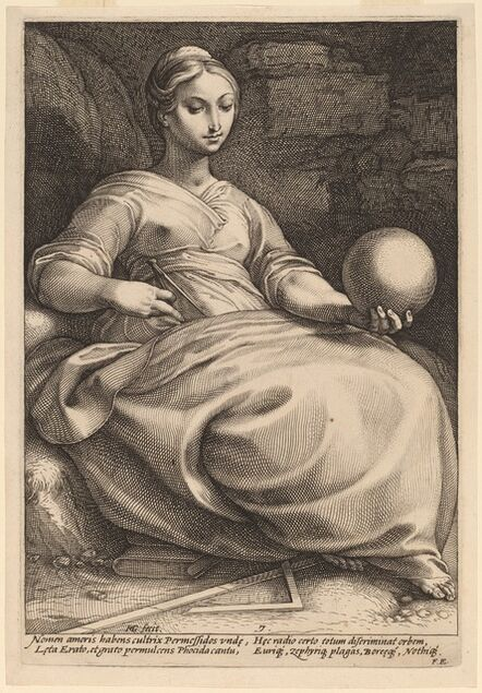 Hendrik Goltzius, 'Erato', probably 1592