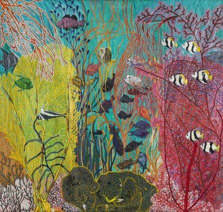 Pacita Abad, 'Shallow gardens of Apo Reef', 1986
