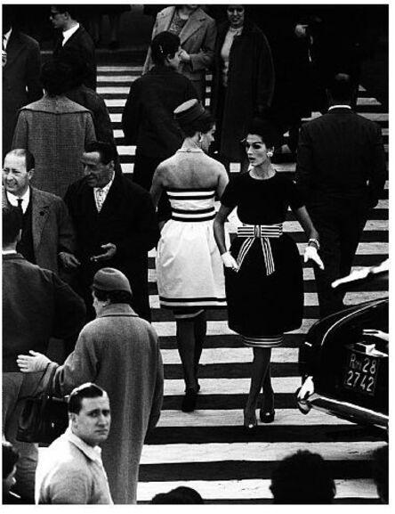 William Klein, 'Nina + Simone, Piazza di Spagna, Rome (Vogue), Variant', 1960