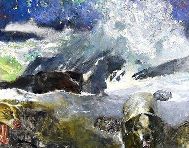 Jamie Wyeth, 'More Swim Dogs', 2014