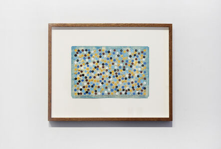 Hamish Fulton, 'Counting 343 coloured dots for: counting 49 barefoot paces from and to the tent each morning for seven days. A 14 day walk from sea level up to the highest point and back down to the water edge. Sardinia Italy November 2014', 2014