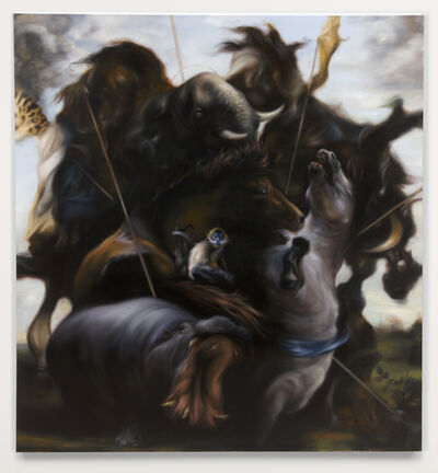Hugo Wilson, 'Hunt 4', Oil on canvas