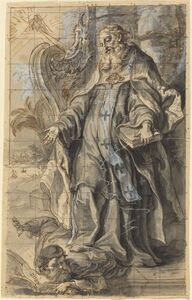 Gottfried Bernhard Götz, 'Saint Ambrose Suppressing Heresy'