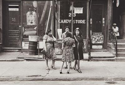 Helen Levitt, 'N.Y.C. (women in front of candy store)', 1945