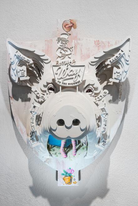 Mário Belém, 'Pig Headed Trophy', 2020