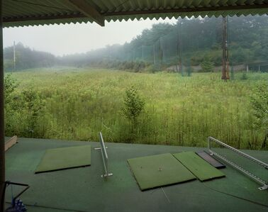 Yishay Garbasz, 'Golf driving range, Mukaihata, Okuma-machi, Futaba, Fukushima Nuclear Exclusion Zone', 2013