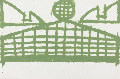 Evelyn Reyes, 'Fence with Sandwich (Green Khaki)', 2002-2004