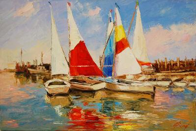 Elena Bond, 'Sails at the Dock', 2016