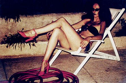 Helmut Newton, 'Grace Coddington Relaxing, St. Tropez', 1973