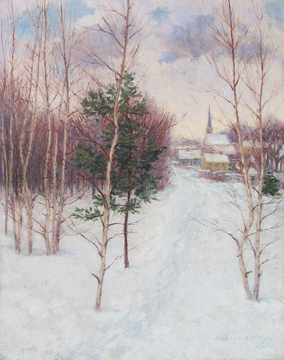 John Leslie  Breck, 'Village in Winter (Auburndale, MA)', ca. 1895