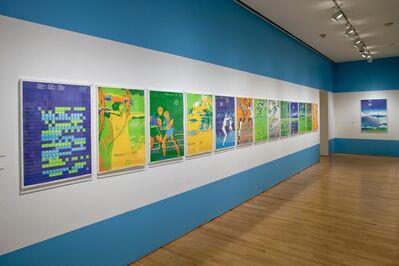 "Otl Aicher, 'Installation view ""Otl Aicher: München 1972"", 2009'"