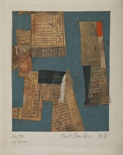 Kurt Schwitters, 'Mz 177. auf blau.', 1921