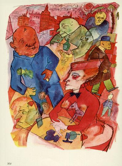George Grosz, 'Ach, knallige Welt, du seliges Abnormitätenkabinett (1916)', 1923