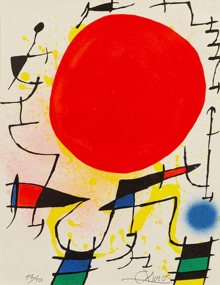 Joan Miró, 'Le Soleil Rouge'