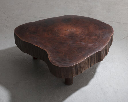Joaquim Tenreiro, 'Solid tree trunk coffee table made of a thick cross section of vinhatico wood', 1950