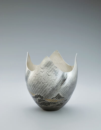 Osumi Yukie, 'Silver Vase Araiso (Rough Shore)', 2020