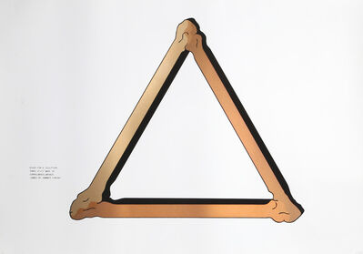 Robert Morris (b. 1931), 'Study for Copper Sculpture', 1980