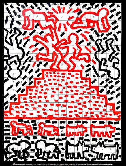 Keith Haring, 'Vintage Keith Haring Pyramid Child Dog Poster', 1991