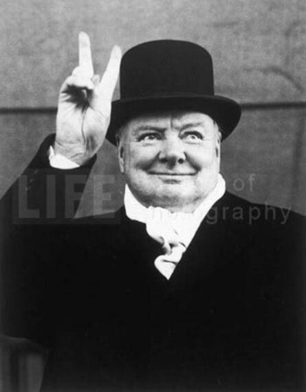 Alfred Eisenstaedt, 'Winston Churchill, Liverpool', 1951