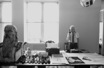 Robert Levin, 'Andy Warhol with Leonardo Bust, Halston Shoes 1981', 2015