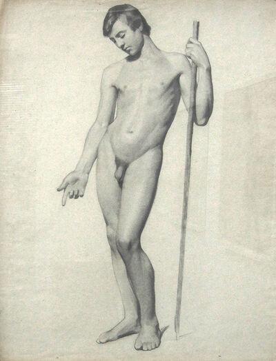 Charles Nègre, 'Figure Drawing of a Man', 1842c/1842c
