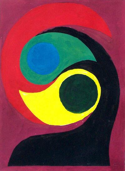 Etienne Beöthy, 'Composition on Violet Background', 1927