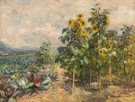 Marie Egner, 'Summer Fields in Schladming', 1915