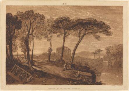 Joseph Mallord William Turner and Robert Dunkarton, 'The Temple of Minerva Medica', published 1811