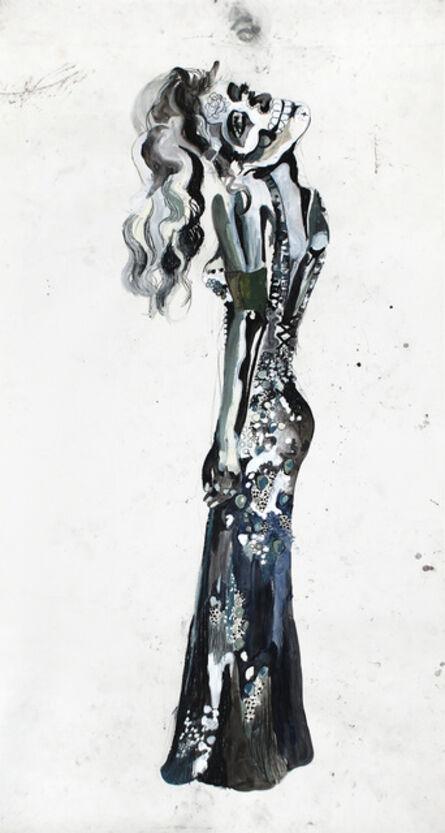 Charlotte Schleiffert, 'Untitled(vrouw met doodshoofd)', 2007