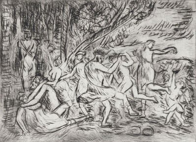 Leon Kossoff, 'From Poussin 'A Bacchanalian Revel before a Herm''
