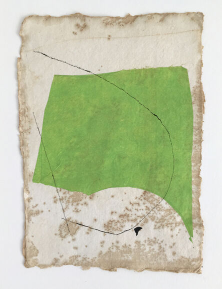 Diane Englander, 'Bright Green on Tan with Black Lines and Speck', 2019