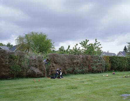 Jeff Wall, 'Boys cutting through a hedge', 2003