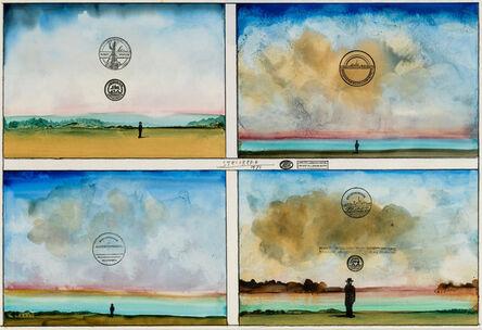 Saul Steinberg, 'Four Sunsets', 1971
