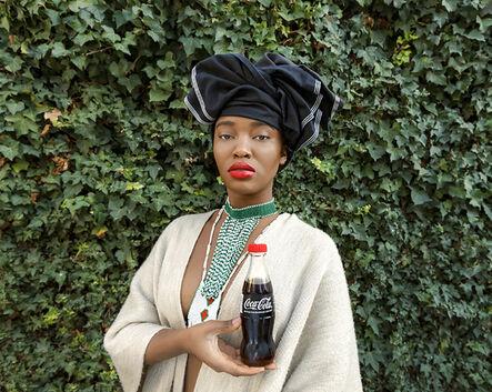 Tony Gum, 'Black Coca-Cola Series - Xhosa woman', 2015