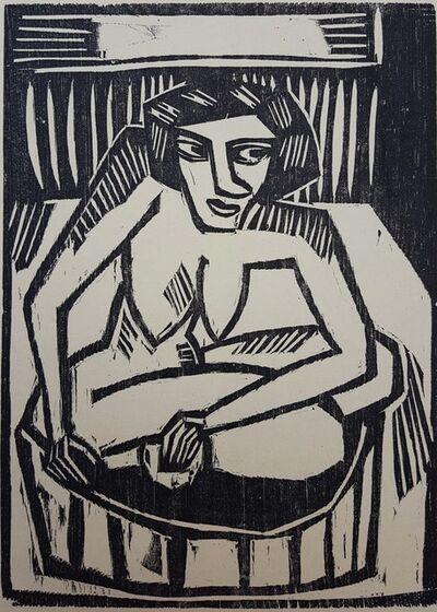 Karl Schmidt-Rottluff, 'Frau in der Wanne (Woman in Tub)', 1915