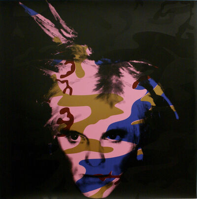 Gavin Turk, 'Camouflage Fright Wig - Blue and Bronze on Pink', 2007