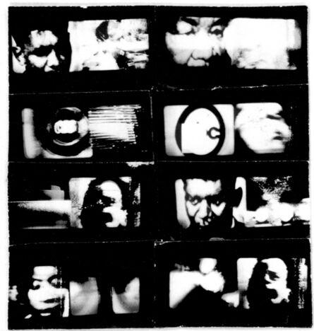Aldo Tambellini, 'Black TV (still)', 1968