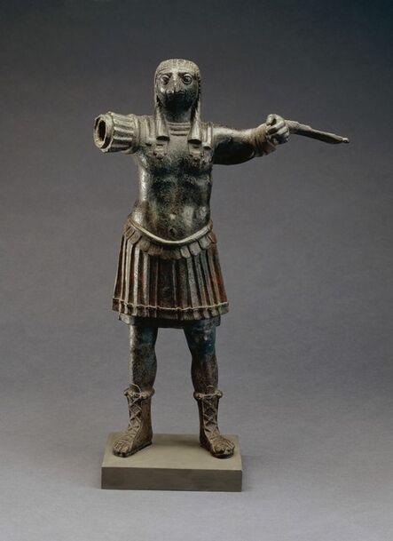 'Standing figure of the Roman god Horus, wearing Roman military costume', 1st-2nd century AD