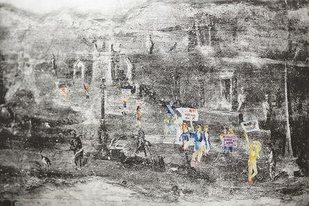 Petri Hytönen, 'Feminist march in Pompeii', 2019
