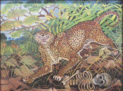 Antonio Ligabue, 'Leopardo con scheletro', 1959