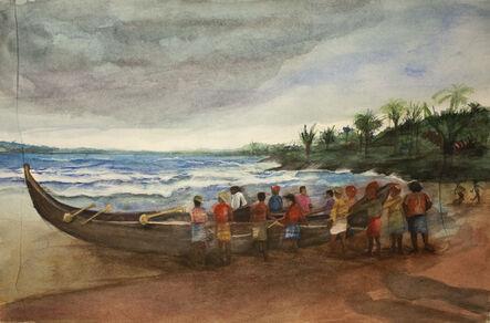 Carlos Giordano Giroldi, 'Pescatori in Kerala', 2020