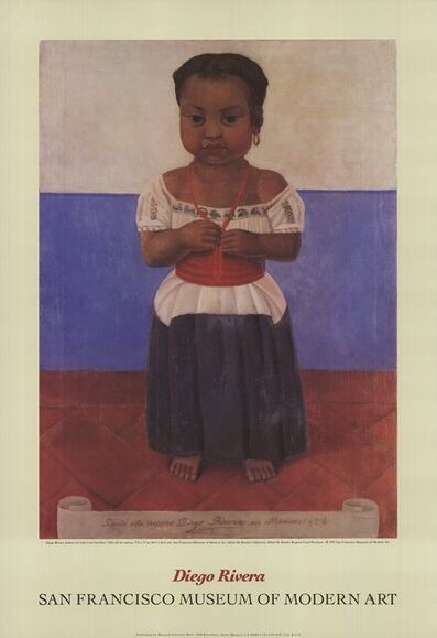 Diego Rivera, 'Indian Girl with Coral Necklace', 1992