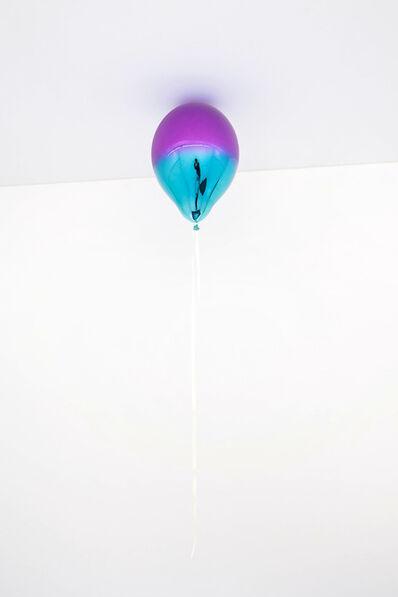 Jeppe Hein, 'Dark Purple and Light Turquoise Mirror Balloon', 2021