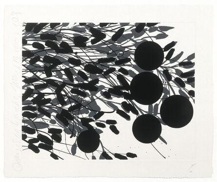 Donald Sultan, 'Oranges on Branches, March 18 2002', 2002