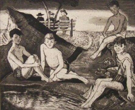 Karl Schrag, 'Bathing Kids', 1940