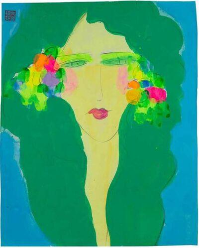 Walasse Ting 丁雄泉, 'Green Goddess', 1990-2000