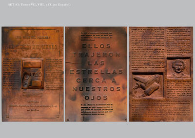 Óscar Santillán, 'Burnt Encyclopedia (Enciclopedia quemada)', ca. 2016-2017