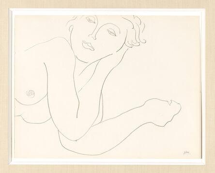 Henri Matisse, 'Portrait de femme allongée et accoudée', ca. 1935