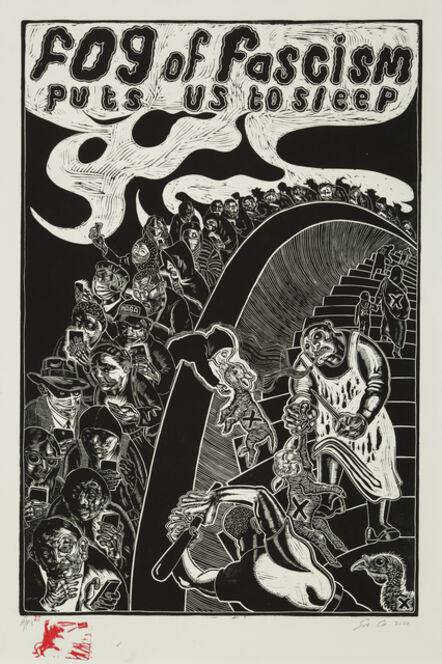 Sue Coe, 'Fog of Fascism', 2020